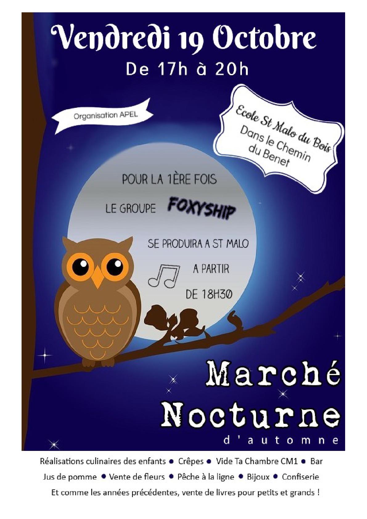 Affiche Marché Nocturne 2018-001