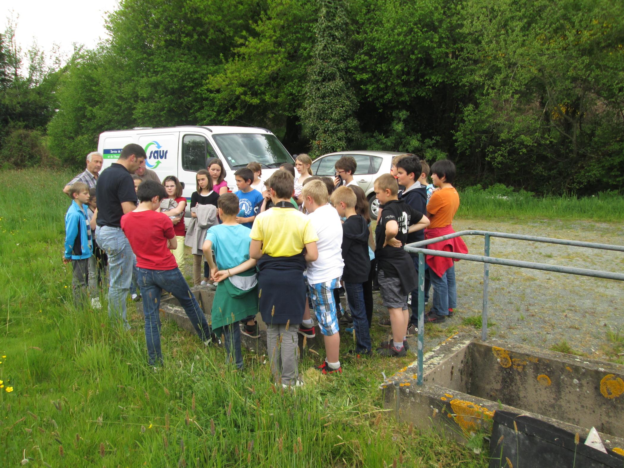 Les CM2 visitent la station d'épuration