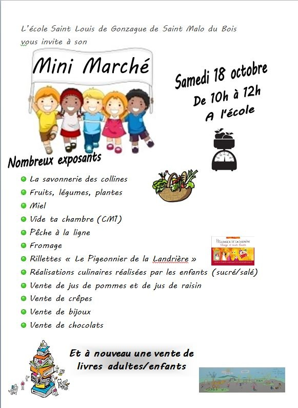 Mini Marché le Samedi 18 Octobre 2014
