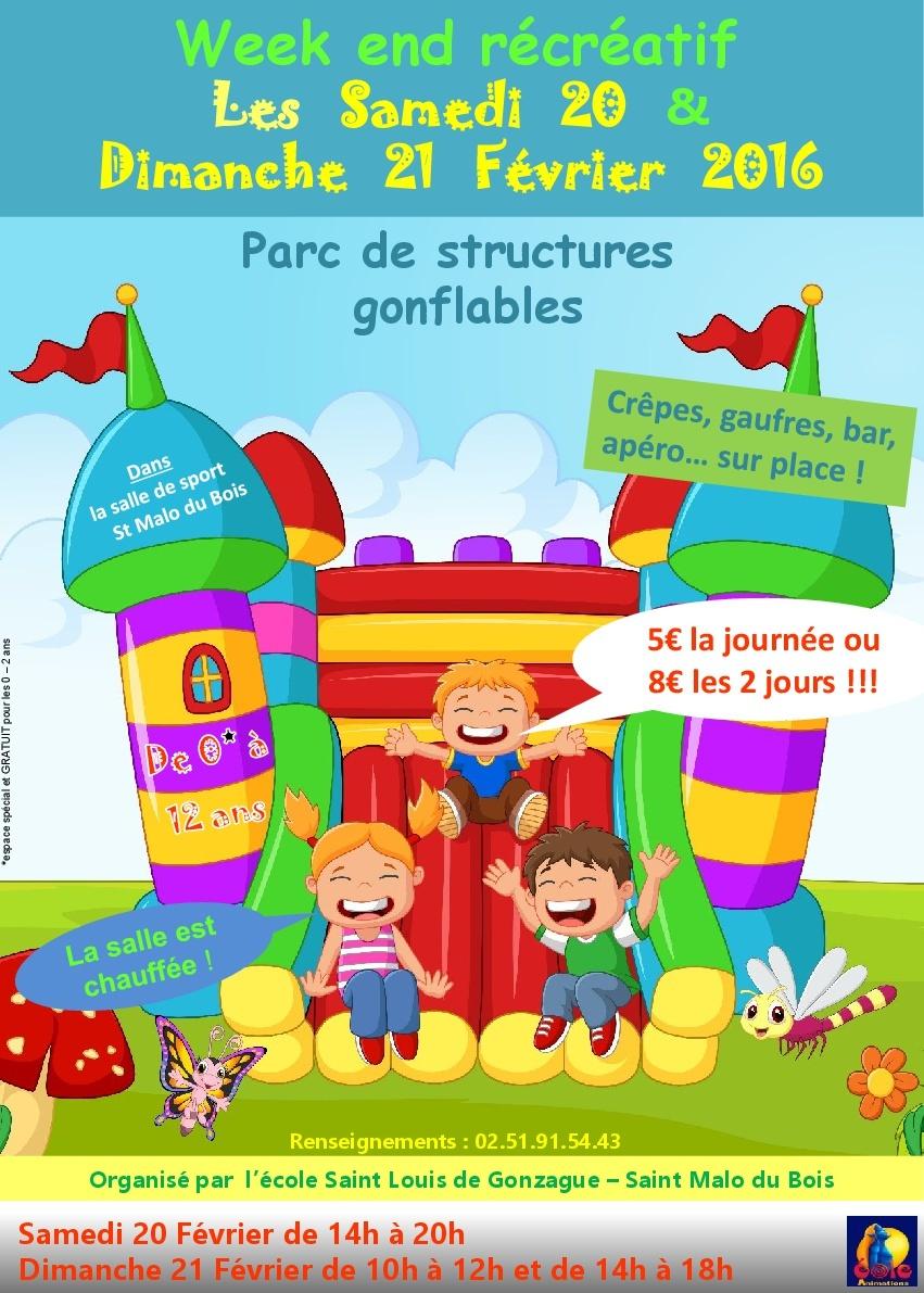 20 et 21 Février prochain week end récréatif à Saint Malo du Bois