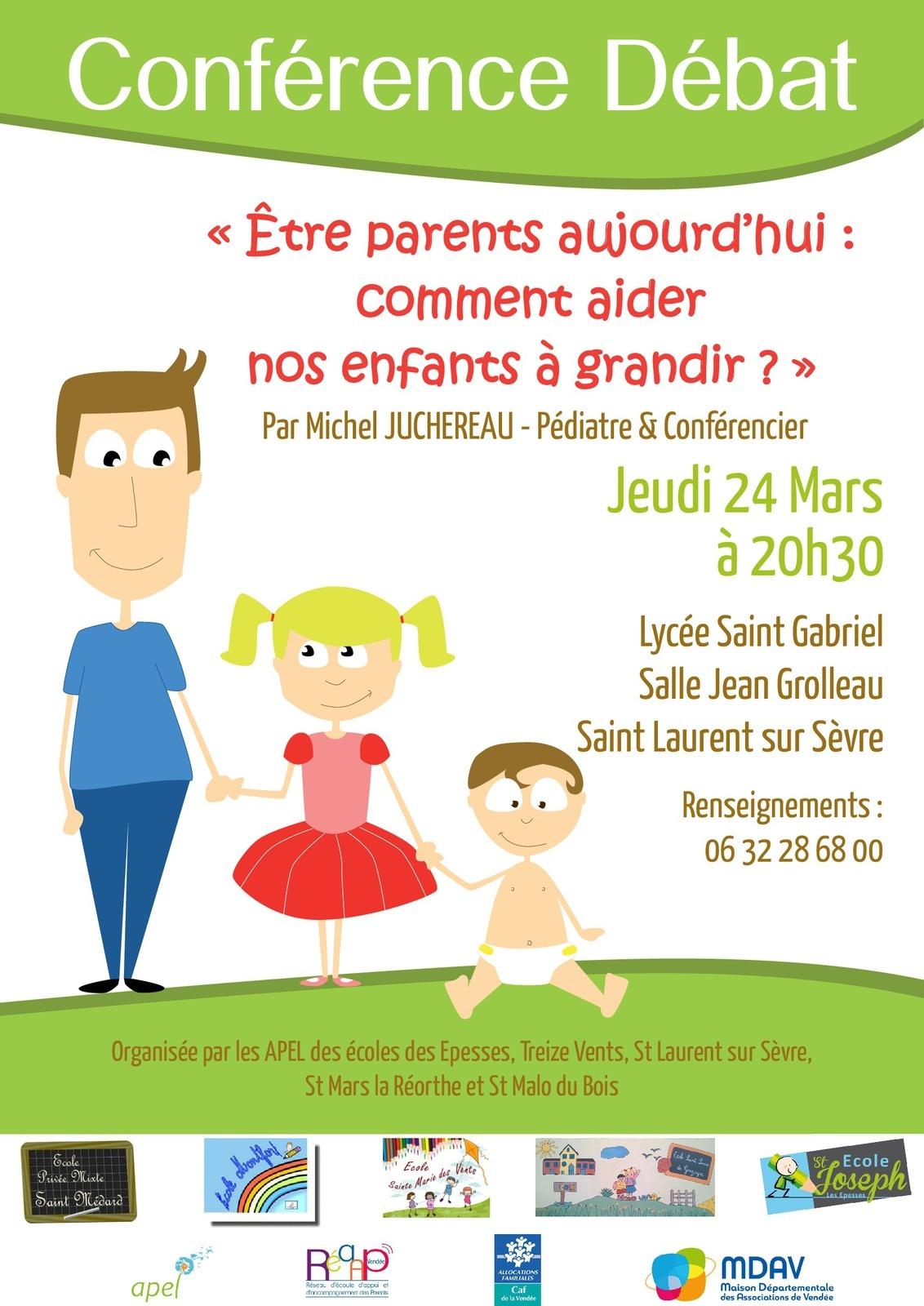"""""""Etre parents aujourd'hui !"""" Le 24 Mars Prochain"""